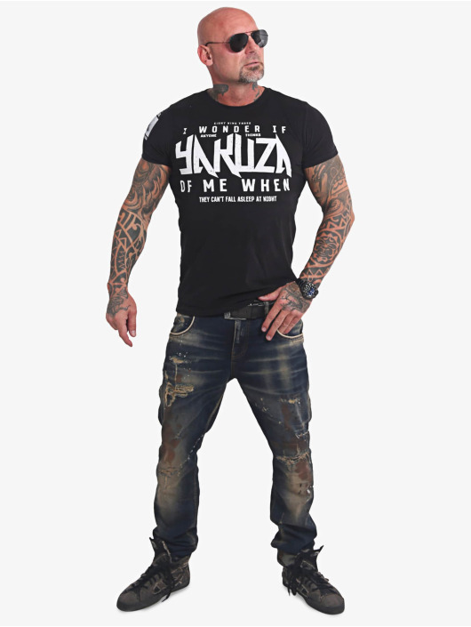Yakuza T-Shirty Anyone czarny