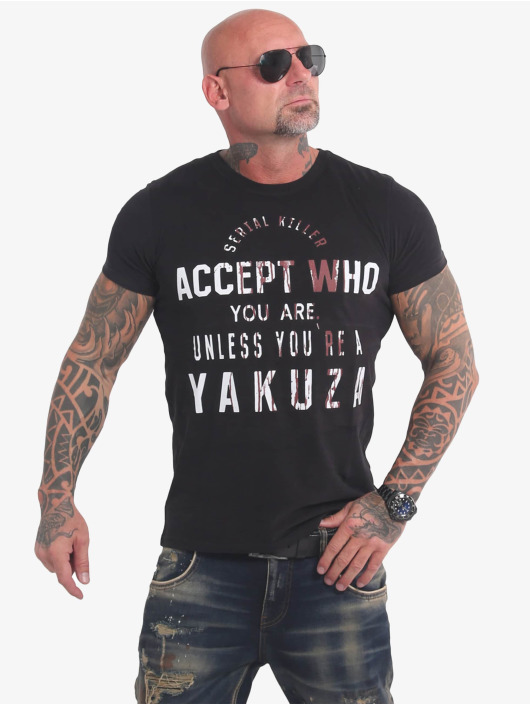 Yakuza T-Shirty Swine czarny