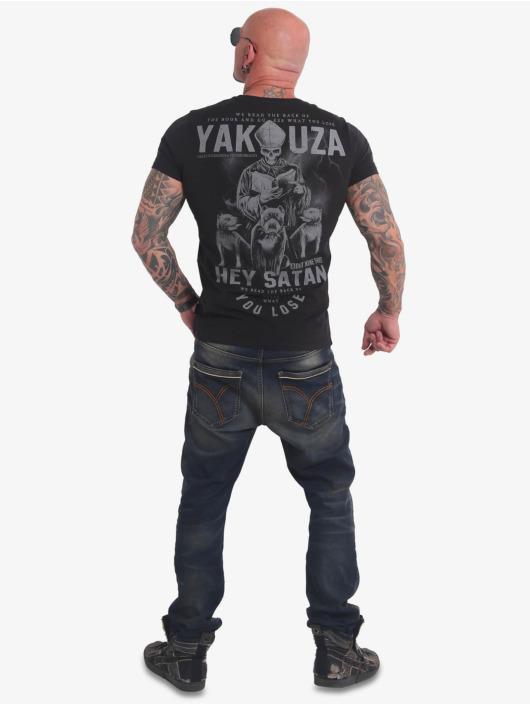 Yakuza T-Shirty Hey Satan czarny