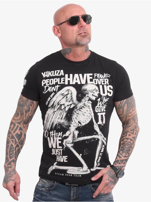 Yakuza T-Shirty Power Over Us czarny