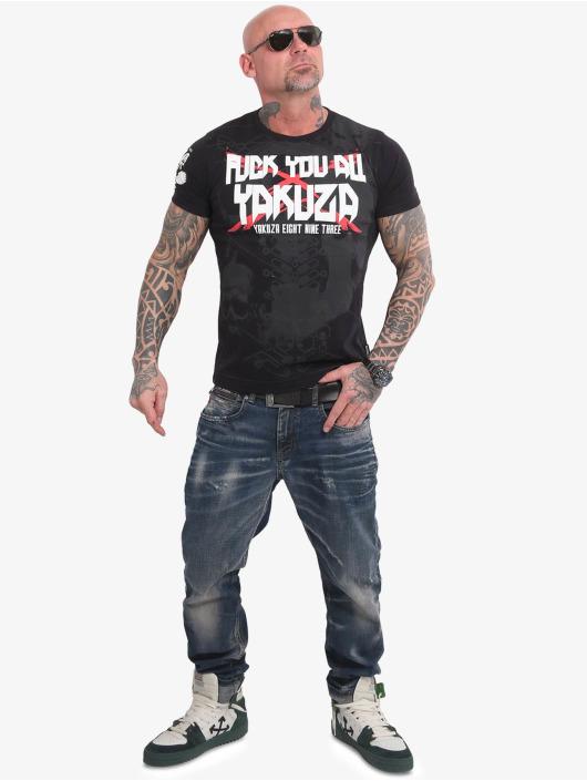 Yakuza T-Shirty F.Y.A. czarny