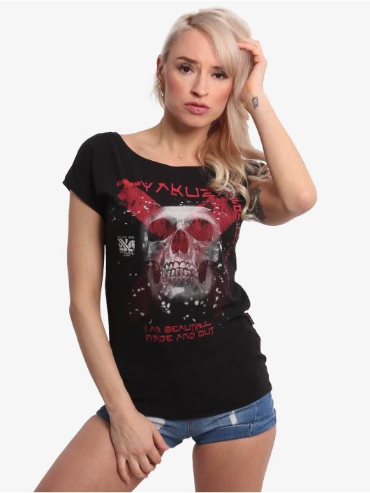 Yakuza T-Shirty Beautiful Wide Crew Neck czarny