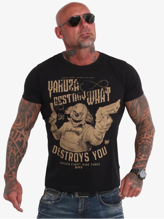 Yakuza T-Shirty Destroys U czarny
