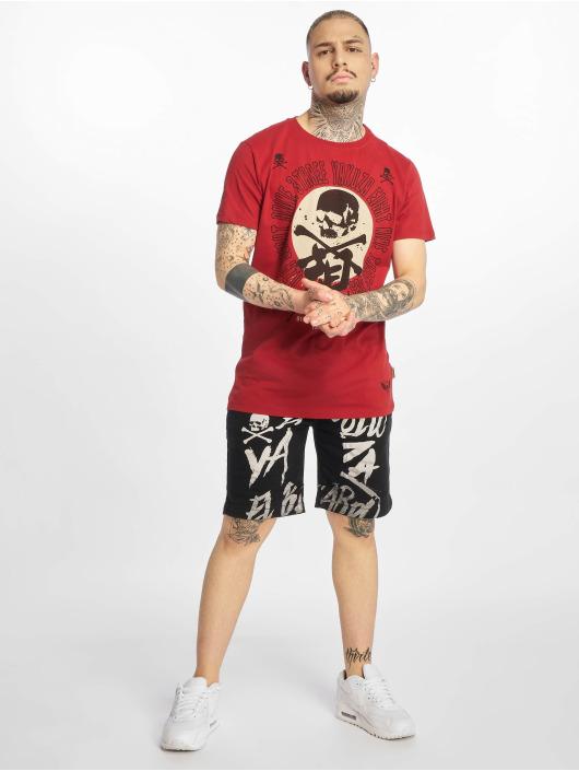 Yakuza T-Shirty Nippon Skull czerwony