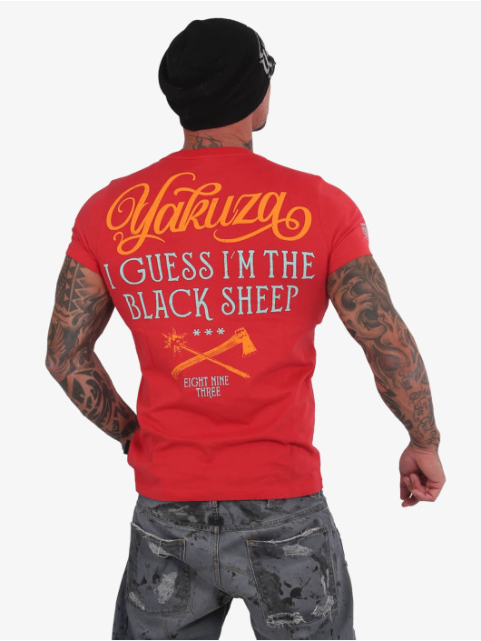 Yakuza T-Shirty Black Sheep czerwony