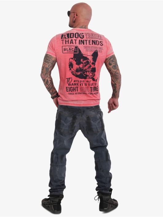 Yakuza T-Shirty Dog Burnout czerwony