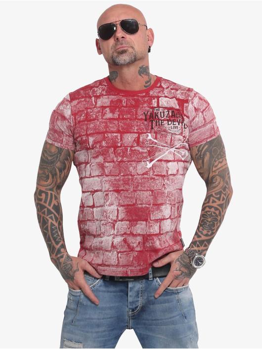 Yakuza T-Shirty The Devil czerwony