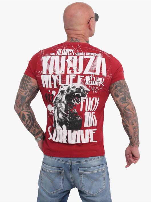 Yakuza T-Shirty My Life czerwony