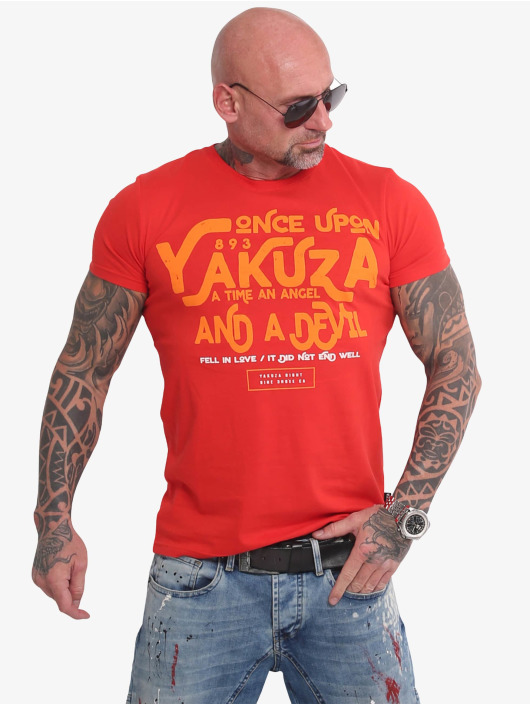 Yakuza T-Shirty Once Upon czerwony