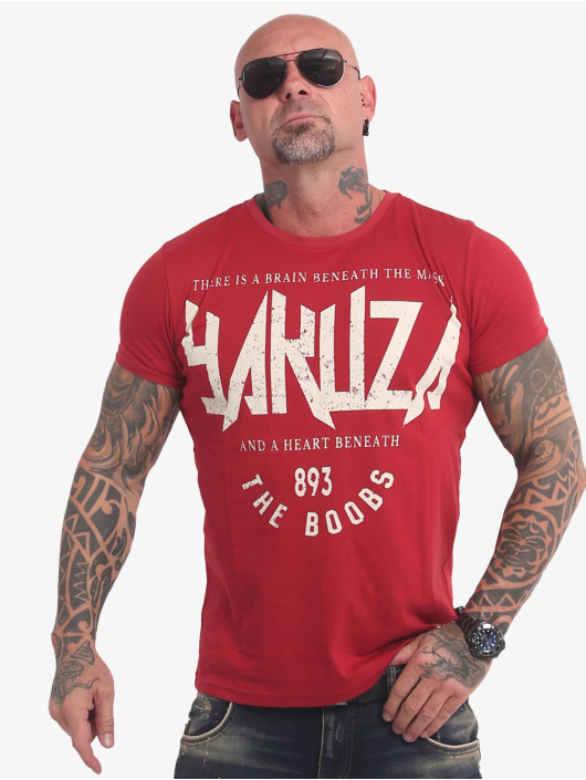Yakuza T-Shirty Boobs czerwony