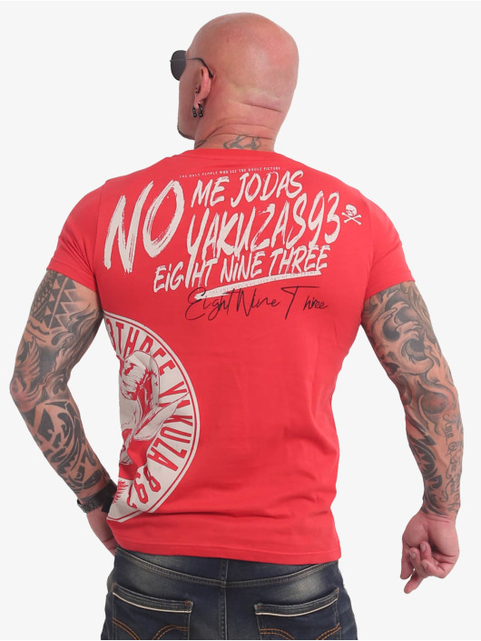 Yakuza T-Shirty Jodas czerwony