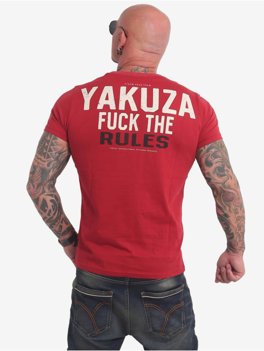 Yakuza T-Shirty Rules czerwony
