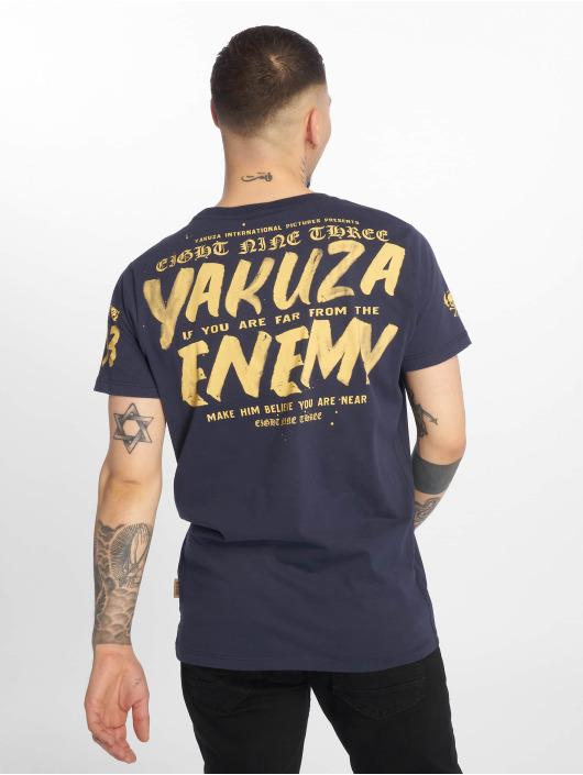 Yakuza T-Shirty Enemy niebieski