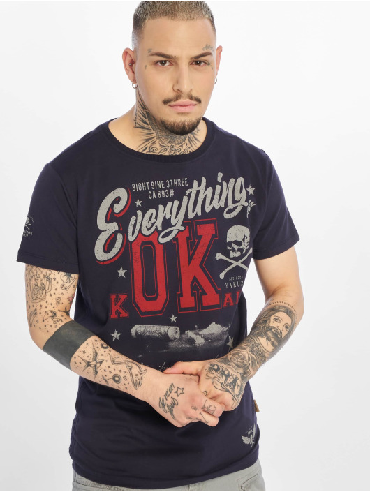 Yakuza T-Shirty Everything Ok niebieski