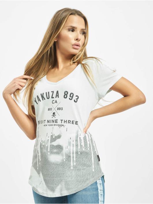 Yakuza T-Shirty Virus V Neck niebieski