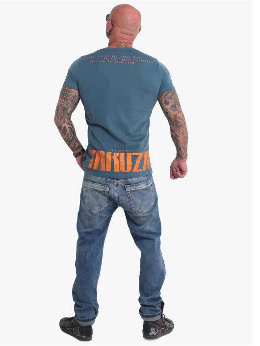 Yakuza T-Shirty Crucified niebieski