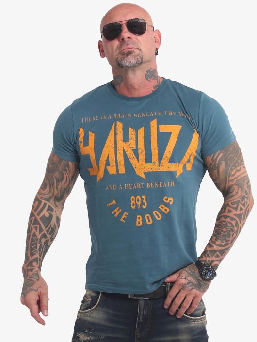 Yakuza T-Shirty Boobs niebieski