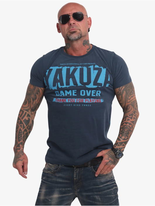Yakuza T-Shirty Hating Clown niebieski