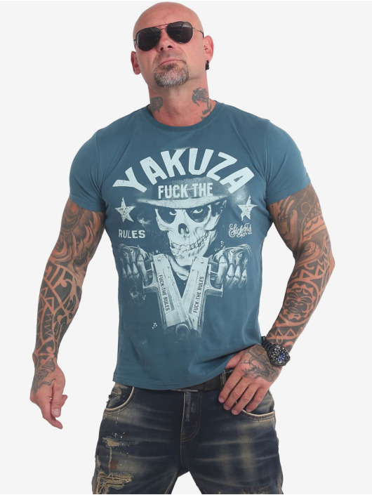 Yakuza T-Shirty Rules niebieski