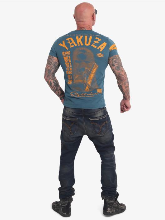 Yakuza T-Shirty Ulster niebieski