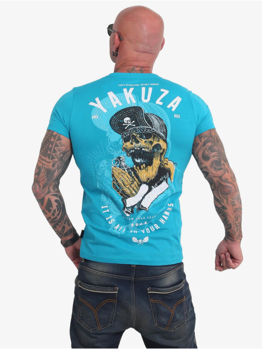 Yakuza T-Shirty Wey niebieski