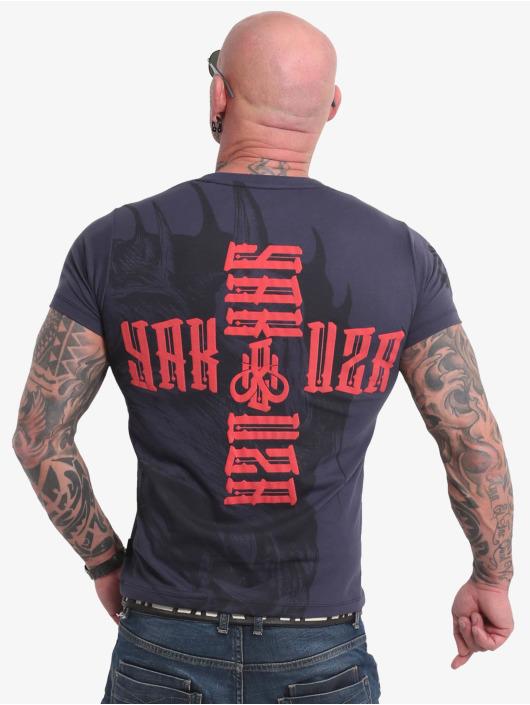 Yakuza T-Shirty Dragon niebieski