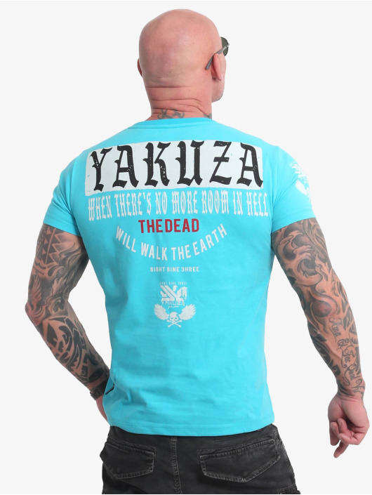 Yakuza T-Shirty Earth niebieski