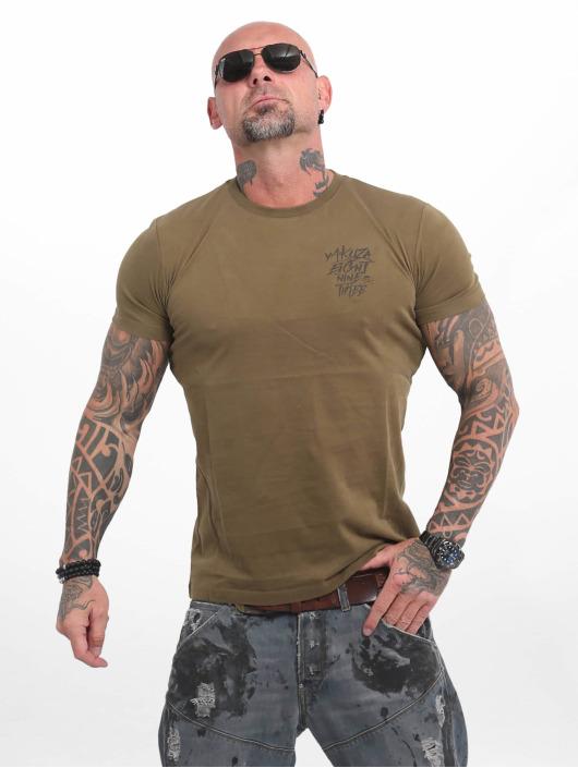 Yakuza T-Shirty Basic Line 4W oliwkowy