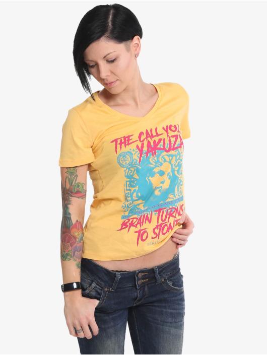 Yakuza T-Shirty Stone V Neck pomaranczowy
