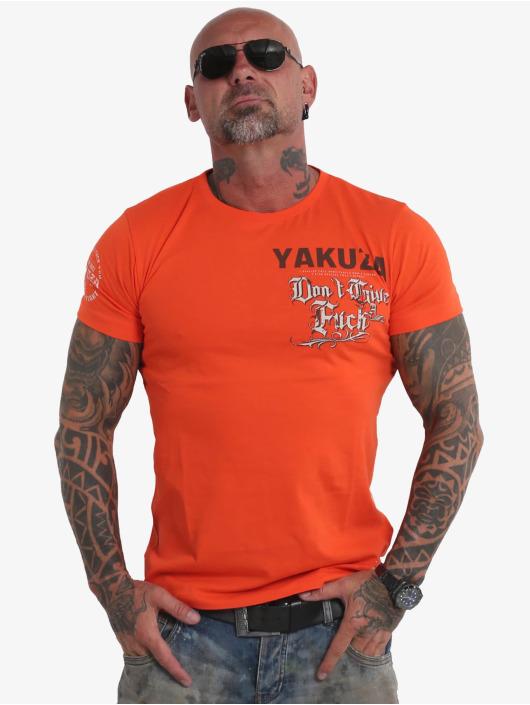 Yakuza T-Shirty Give A Fck pomaranczowy