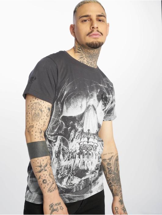Yakuza T-Shirty Cyber Death szary