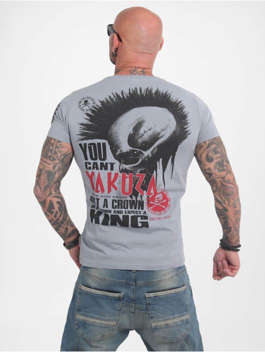 Yakuza T-Shirty Dead Punk szary