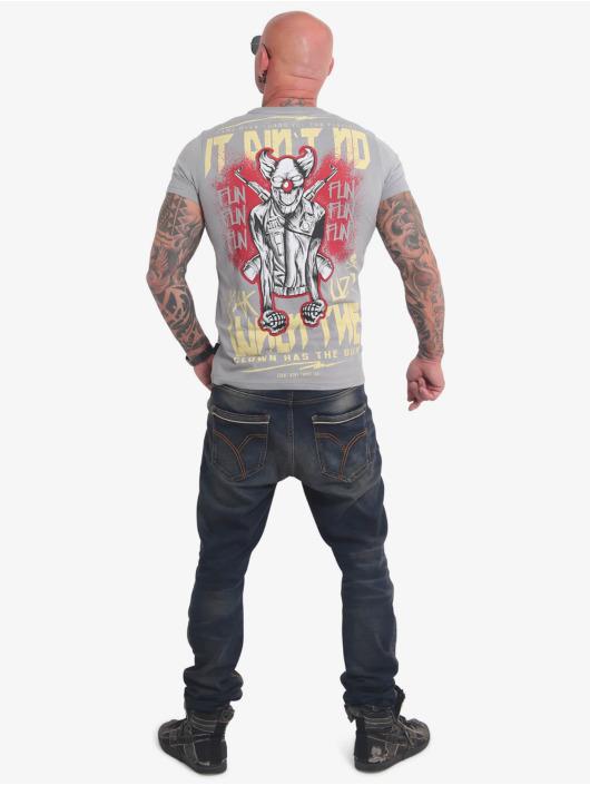 Yakuza T-Shirty No Fun szary