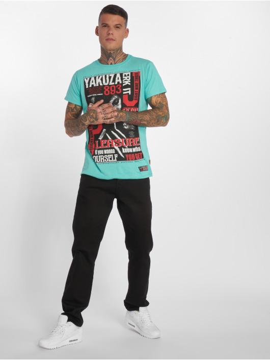 Yakuza T-Shirty Jerk it out turkusowy