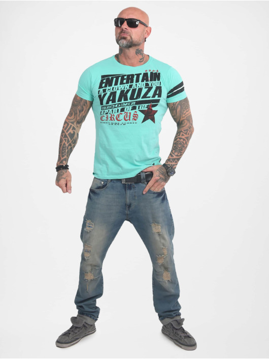 Yakuza T-Shirty Entertain turkusowy