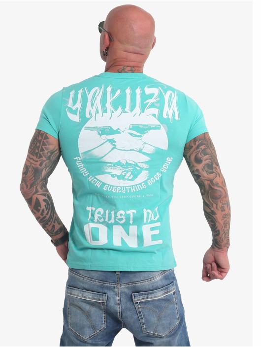 Yakuza T-Shirty Trust No One turkusowy