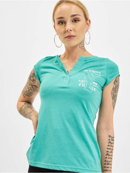 Yakuza T-Shirty My Heart turkusowy