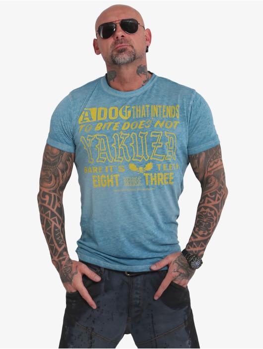 Yakuza T-Shirty Dog Burnout turkusowy