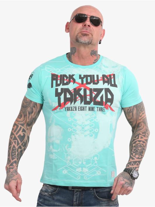 Yakuza T-Shirty F.Y.A. turkusowy