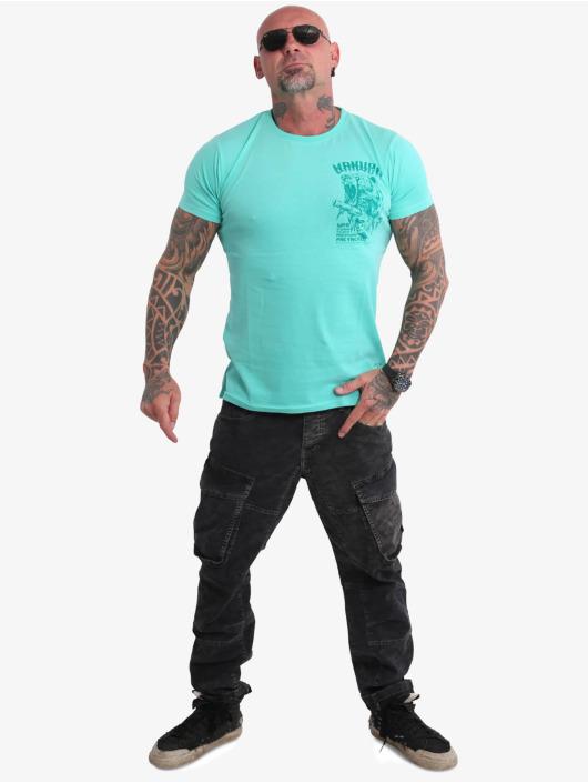 Yakuza T-Shirty Beast V02 turkusowy
