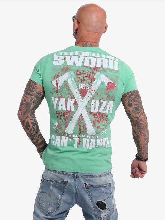 Yakuza T-Shirty Sword zielony
