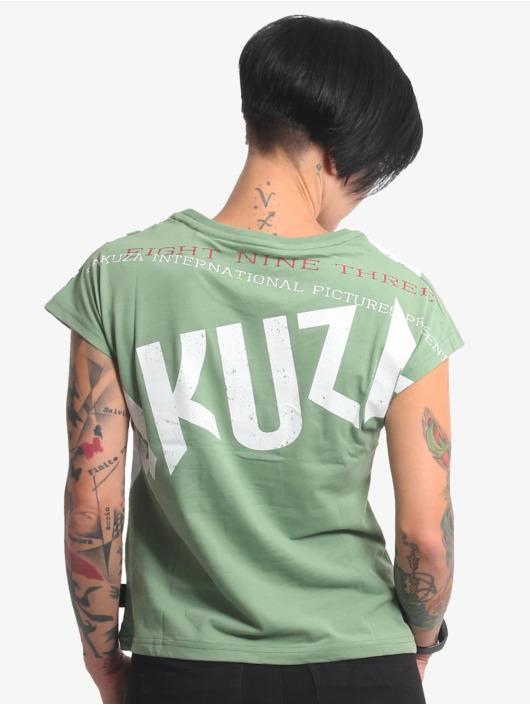 Yakuza T-Shirty Panda Box Fit zielony