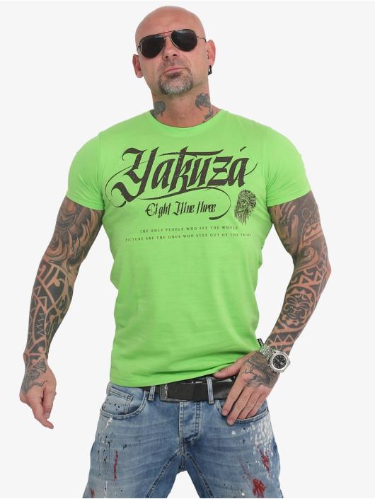Yakuza T-Shirty Indian Skull zielony