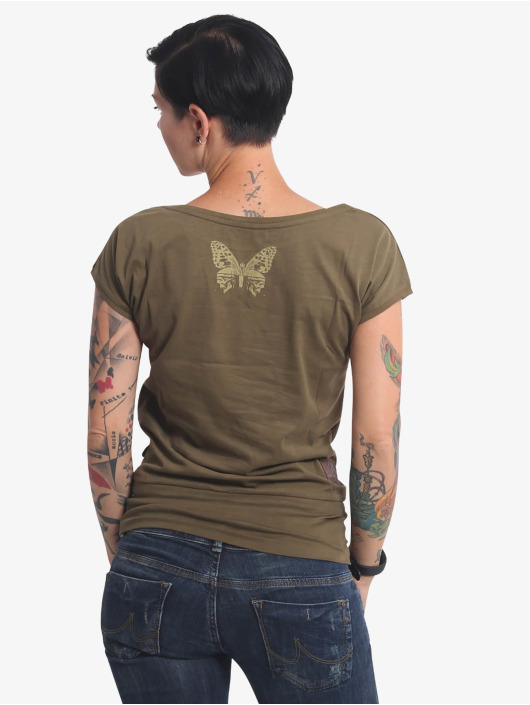 Yakuza T-Shirty Dead Butterfly Wide zielony