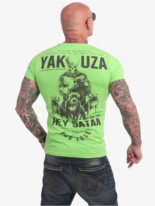 Yakuza T-Shirty Hey Satan zielony