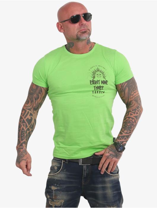 Yakuza T-Shirty Inevitable zielony