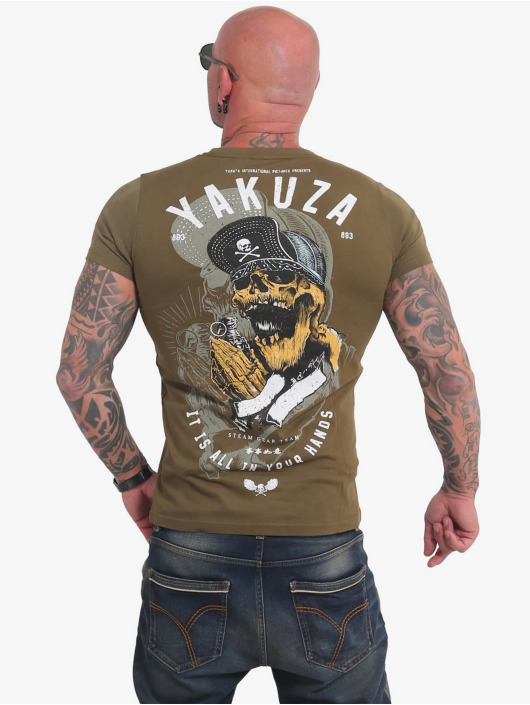 Yakuza T-Shirty Wey zielony