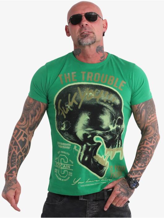 Yakuza T-Shirty Fcku zielony