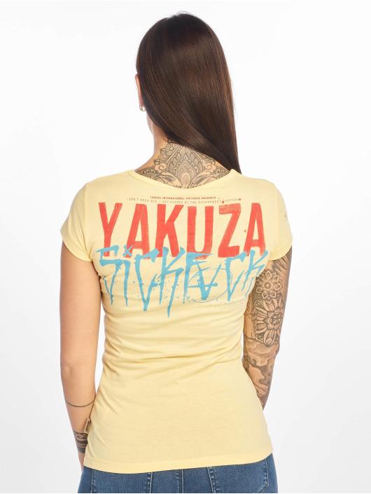 Yakuza T-Shirty Smile zólty