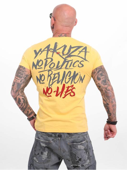 Yakuza T-Shirty No No No zólty